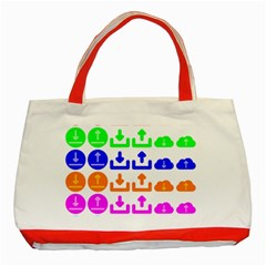 Download Upload Web Icon Internet Classic Tote Bag (Red)