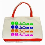 Download Upload Web Icon Internet Classic Tote Bag (Red) Front