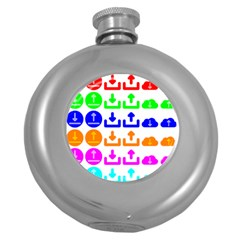 Download Upload Web Icon Internet Round Hip Flask (5 oz)