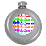 Download Upload Web Icon Internet Round Hip Flask (5 oz) Front