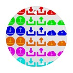 Download Upload Web Icon Internet Round Ornament (Two Sides)  Front