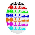 Download Upload Web Icon Internet Oval Ornament (Two Sides) Back