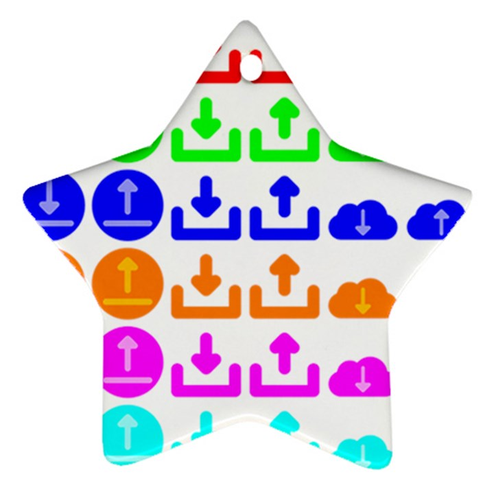 Download Upload Web Icon Internet Star Ornament (Two Sides)