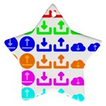Download Upload Web Icon Internet Star Ornament (Two Sides)  Back