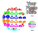 Download Upload Web Icon Internet Playing Cards 54 (Round)  Front - Heart3