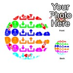 Download Upload Web Icon Internet Playing Cards 54 (Round)  Front - Heart5