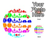 Download Upload Web Icon Internet Playing Cards 54 (Round)  Front - Heart8