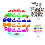Download Upload Web Icon Internet Playing Cards 54 (Round)  Front - HeartA