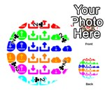Download Upload Web Icon Internet Playing Cards 54 (Round)  Front - Club2
