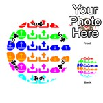 Download Upload Web Icon Internet Playing Cards 54 (Round)  Front - Club6