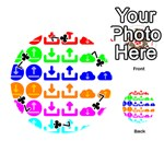 Download Upload Web Icon Internet Playing Cards 54 (Round)  Front - Club7