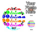 Download Upload Web Icon Internet Playing Cards 54 (Round)  Front - Club10