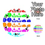 Download Upload Web Icon Internet Playing Cards 54 (Round)  Front - ClubJ