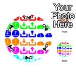 Download Upload Web Icon Internet Playing Cards 54 (Round)  Front - ClubQ