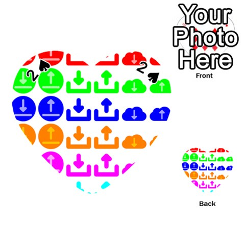 Download Upload Web Icon Internet Playing Cards 54 (Heart)