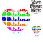 Download Upload Web Icon Internet Playing Cards 54 (Heart)  Front - Heart7