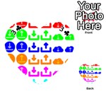Download Upload Web Icon Internet Playing Cards 54 (Heart)  Front - Club3