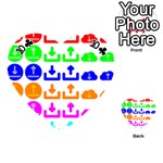 Download Upload Web Icon Internet Playing Cards 54 (Heart)  Front - Club10