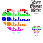 Download Upload Web Icon Internet Playing Cards 54 (Heart)  Front - ClubQ