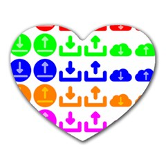 Download Upload Web Icon Internet Heart Mousepads