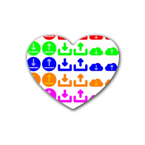 Download Upload Web Icon Internet Heart Coaster (4 pack)