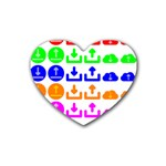 Download Upload Web Icon Internet Heart Coaster (4 pack)  Front