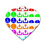 Download Upload Web Icon Internet Dog Tag Heart (One Side) Front
