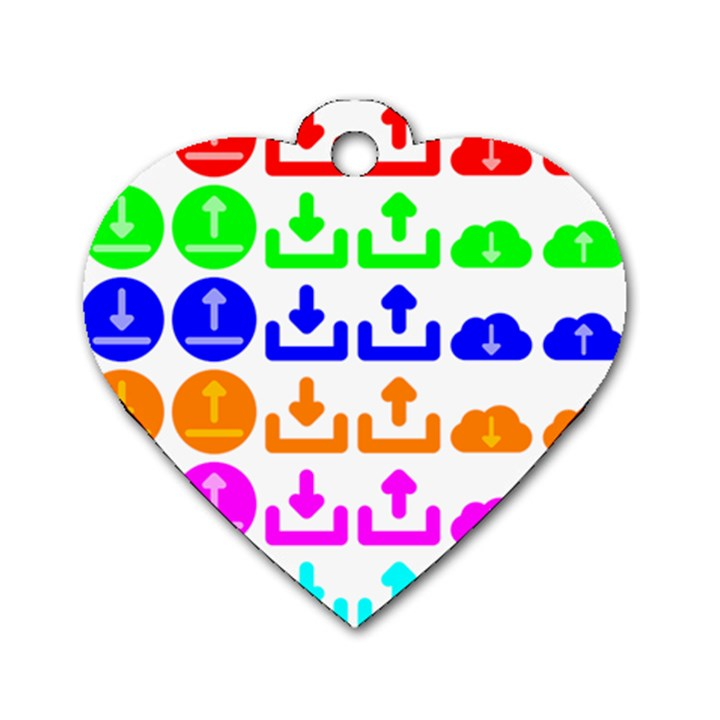 Download Upload Web Icon Internet Dog Tag Heart (One Side)