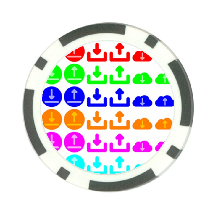 Download Upload Web Icon Internet Poker Chip Card Guards
