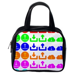 Download Upload Web Icon Internet Classic Handbags (One Side)