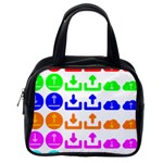 Download Upload Web Icon Internet Classic Handbags (One Side) Front