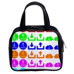 Download Upload Web Icon Internet Classic Handbags (2 Sides) Front