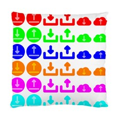 Download Upload Web Icon Internet Standard Cushion Case (Two Sides)