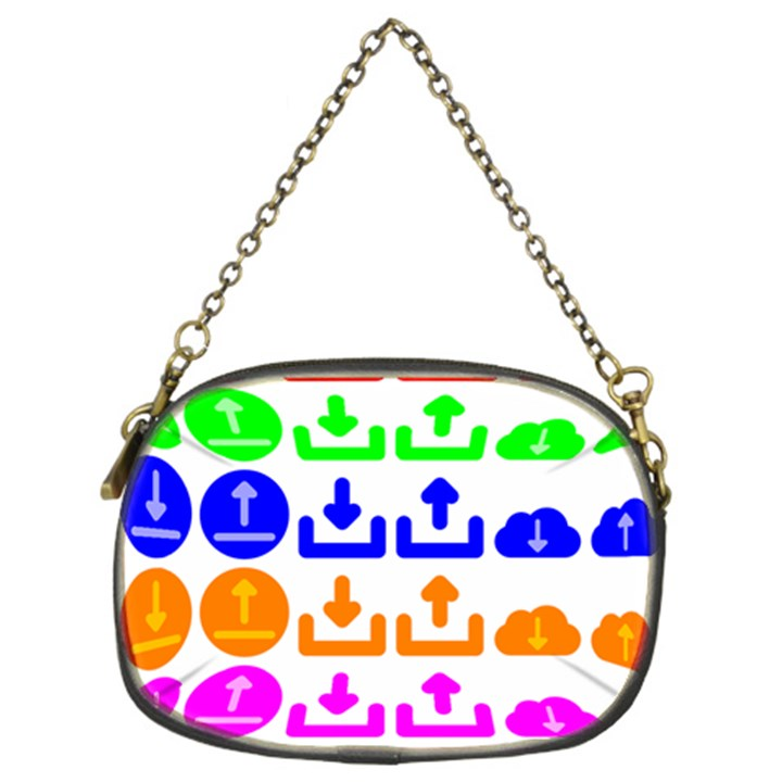 Download Upload Web Icon Internet Chain Purses (Two Sides)