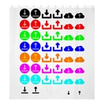 Download Upload Web Icon Internet Shower Curtain 66  x 72  (Large)  58.75 x64.8 Curtain