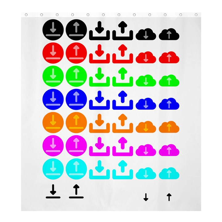 Download Upload Web Icon Internet Shower Curtain 66  x 72  (Large)