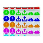 Download Upload Web Icon Internet Cosmetic Bag (XL) Back