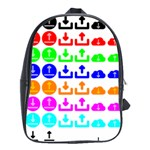 Download Upload Web Icon Internet School Bags(Large)  Front