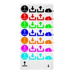 Download Upload Web Icon Internet Shower Curtain 36  x 72  (Stall)  33.26 x66.24 Curtain