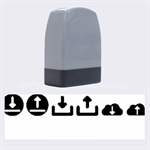 Download Upload Web Icon Internet Name Stamps 1.4 x0.5  Stamp