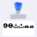Download Upload Web Icon Internet Rubber Stamps (Large) 2.26 x1.05  Stamp