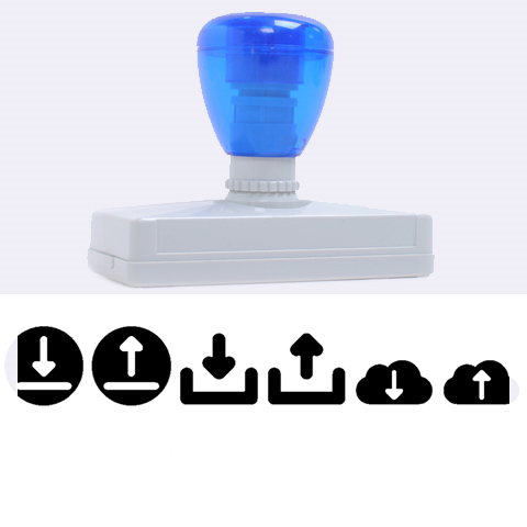Download Upload Web Icon Internet Rubber Address Stamps (XL)