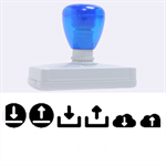 Download Upload Web Icon Internet Rubber Address Stamps (XL) 3.13 x1.38  Stamp
