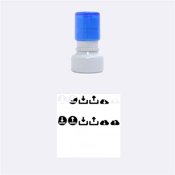 Download Upload Web Icon Internet Rubber Round Stamps (Small)