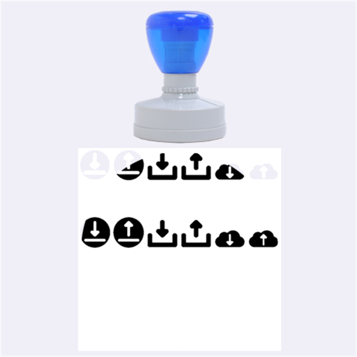 Download Upload Web Icon Internet Rubber Round Stamps (Large)