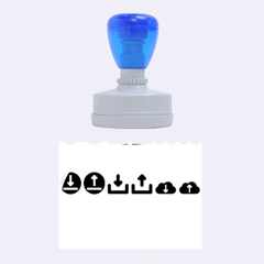 Download Upload Web Icon Internet Rubber Oval Stamps