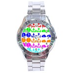 Download Upload Web Icon Internet Stainless Steel Analogue Watch Front