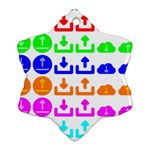Download Upload Web Icon Internet Snowflake Ornament (2-Side) Back