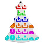 Download Upload Web Icon Internet Christmas Tree Ornament (2 Sides) Back