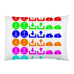 Download Upload Web Icon Internet Pillow Case (Two Sides)